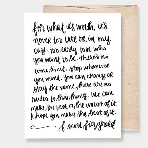 Amazon fott fitzgerald for what its worth card a2 fott fitzgerald quotfor what its worthquot card a2 greeting card m4hsunfo