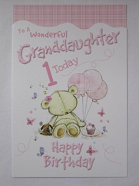 Wonderful Granddaughter Birthday Greetings Card