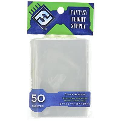 Fantasy Flight Supply: Clear Sleeves - Standard American Board Game Pack (50 Sleeves): Toys & Games