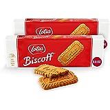Lotus Biscoff Cookies – Caramelized Biscuit Cookies – 64 Cookies (2 packs of 32) – Vegan