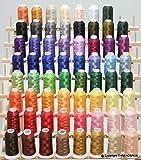 63 Premium Spools Polyester Embroidery Thread Set 40wt for Brother Babylock Janome Singer Pfaff Husqvarna Bernina Machines