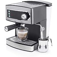 Princess 249407 Máquina de café Espresso, 15 bares de presión, depósito de agua extraíble de 1.6 l, vaporizador de leche…