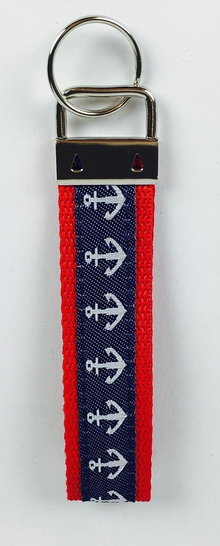 Schl/üsselband Anker maritim Schl/üsselanh/änger rot oder blau blau