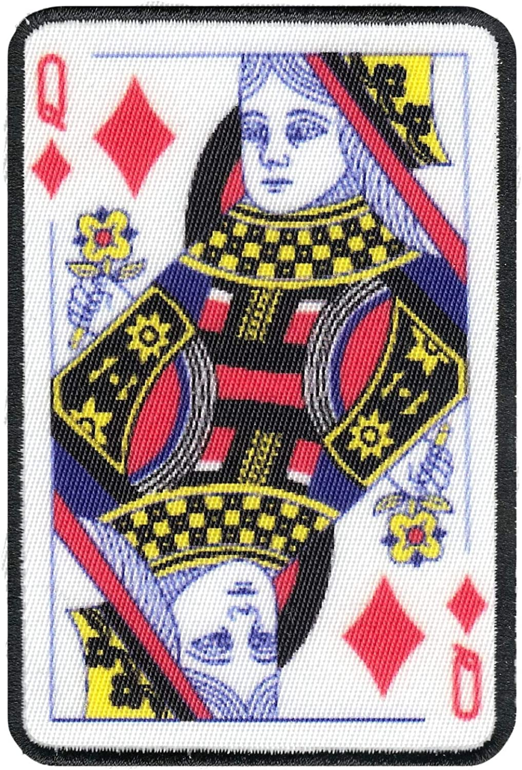 Two of Diamonds Card Embroidered Iron On Foto Patch