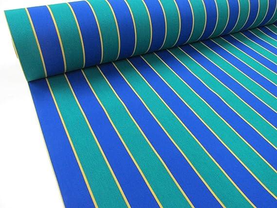 Confección Saymi Metraje 0,50 MTS. Tejido Lona acrílica, Raya Azul ...