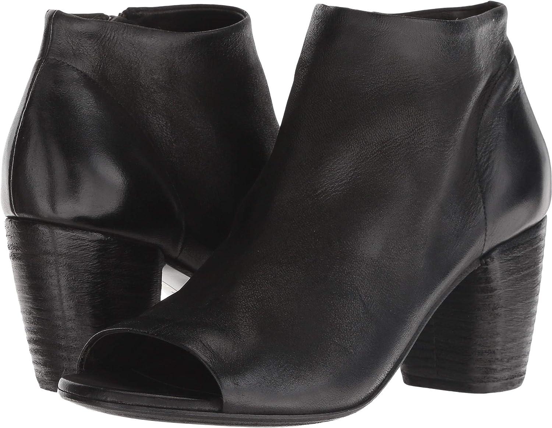 Black marsell Womens Zipper Detail Bootie