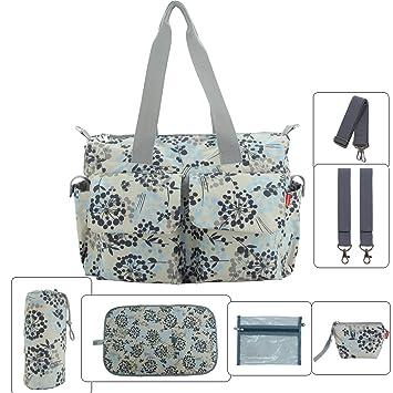 diaper baby bags designer qaw0  Damero Floral Designer Diaper Tote Bags Dandelion