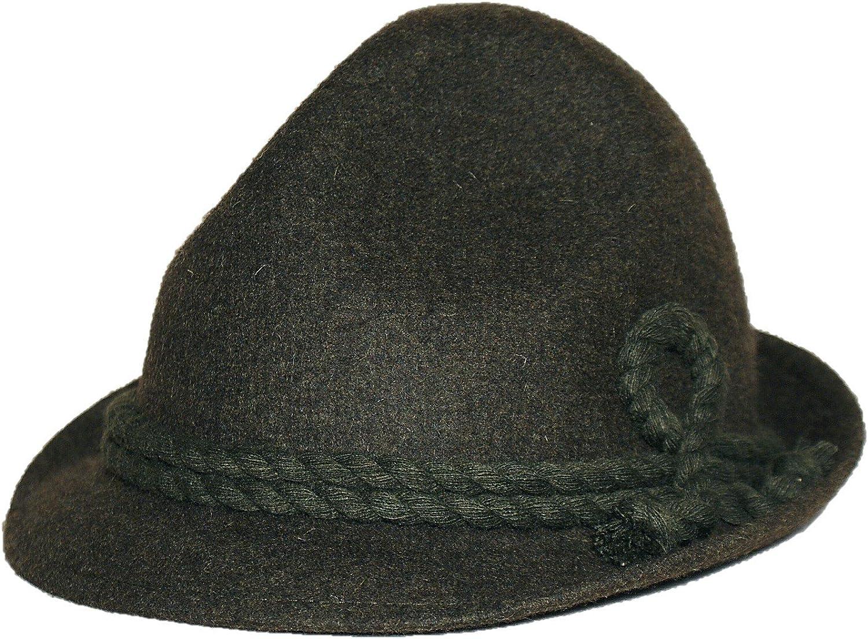 Trachtenhut Edelweiß braun Orginal Lodenhut Tiroler Hut  Wanderhut Herren