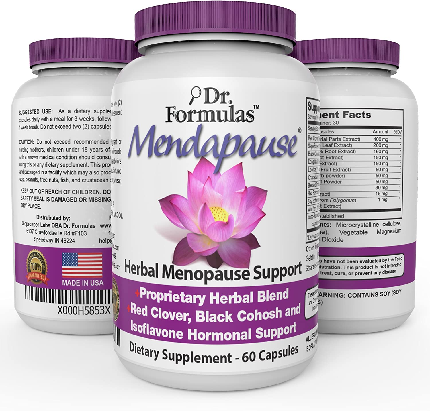 Mendapause by DrFormulas, Women Hormonal Balance Menopause Relief Supplement