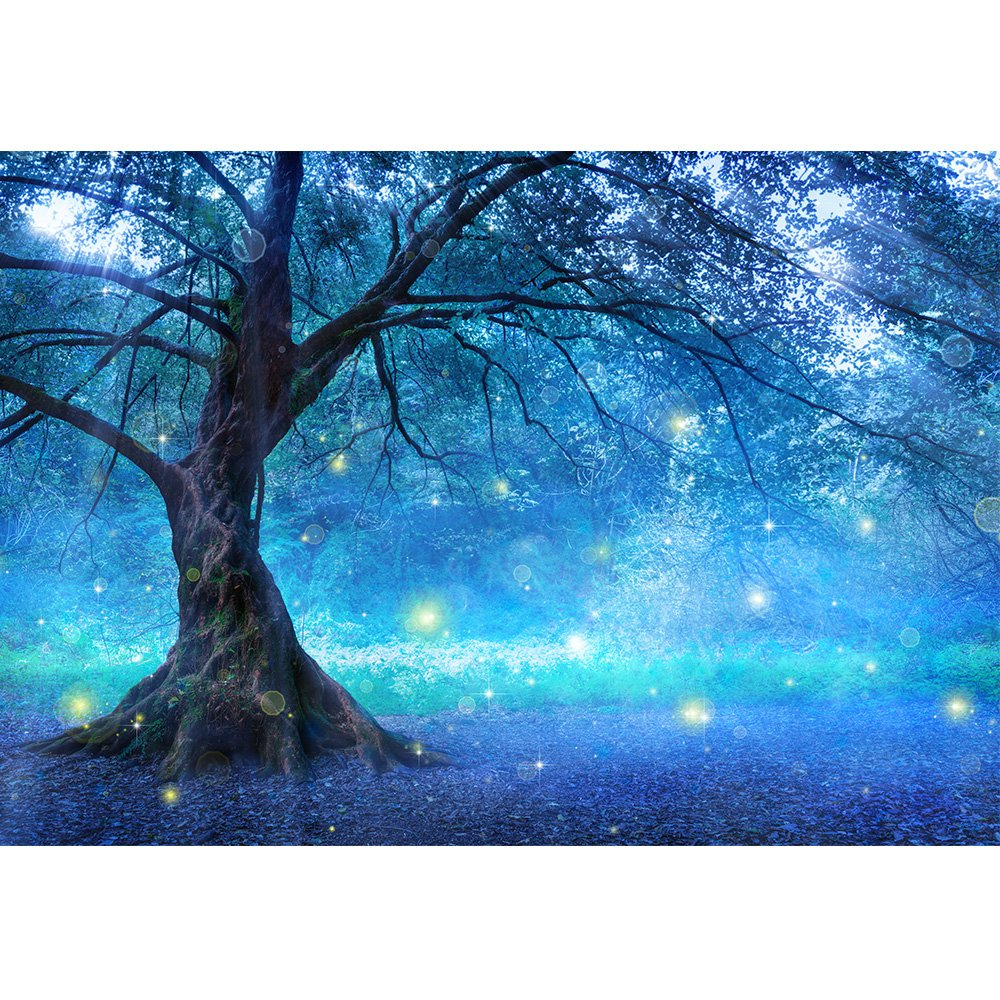 wall26 - Fairy Tree in Mystic Forest - Removable Wall Mural | Self-Adhesive Large Wallpaper - 100x144 inches by wall26 (Image #2)