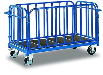 Cuatro pared carro con senkrechten puntales de carga (kg): 1200 ladefläche: 1605 X 810 mm RAL 5010 Azul genciana: Amazon.es: Bricolaje y herramientas