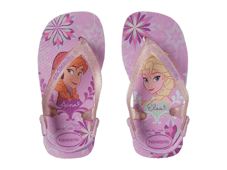 3d787f11df7d9 Havaianas Kids Baby Girl's Baby Frozen Flip Flops (Toddler) Lilac ...
