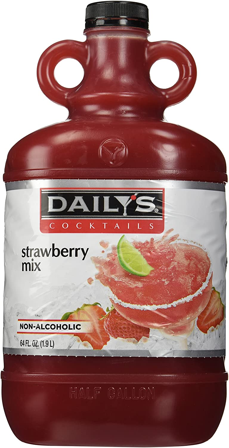 Amazon Com Dailys 64 Oz Strawberry Daiquiri Margarita Mix Daiquiri Cocktail Mixes Grocery Gourmet Food
