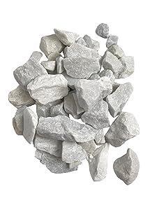 4 Pounds White Marble Accent Rocks, 2 x 32 oz BAGS, Outdoor Decorative Stones for Craft Projects, Vase Fillers, Succulents, Cactus Pots, Terrarium Plants