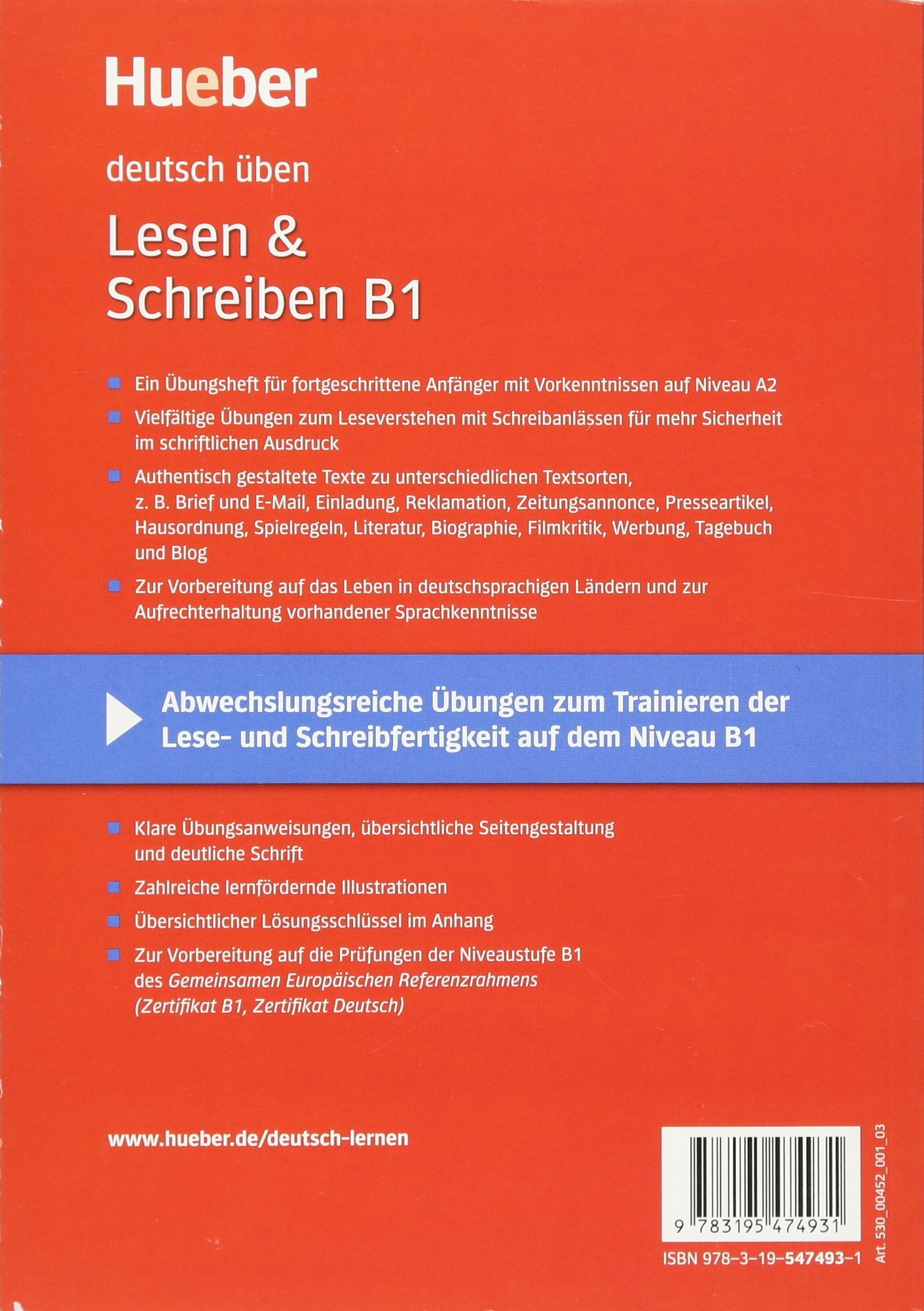 Buy Deutsch Uben Lesen Schreiben B1 Book Online At Low Prices In