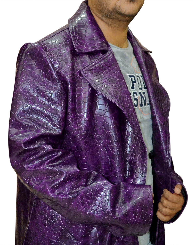 Amazon.com: El Joker Suicide Squad Jared Leto púrpura Escudo ...
