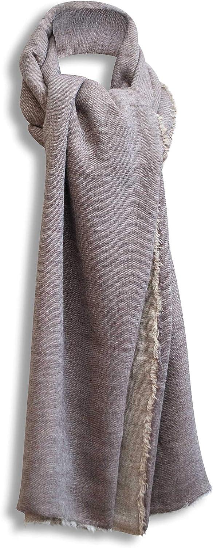 BERTONI Made in Italy Gro/ßer Schal Deckenschal Pashmina Winter Herbst Schal f/ür Damen /& Herren 11/% Alpaka /& Wolle