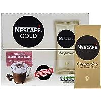 Nescafe Gold Cappuccino Unsweetened Taste 50 mugs low sugar Instant Coffee
