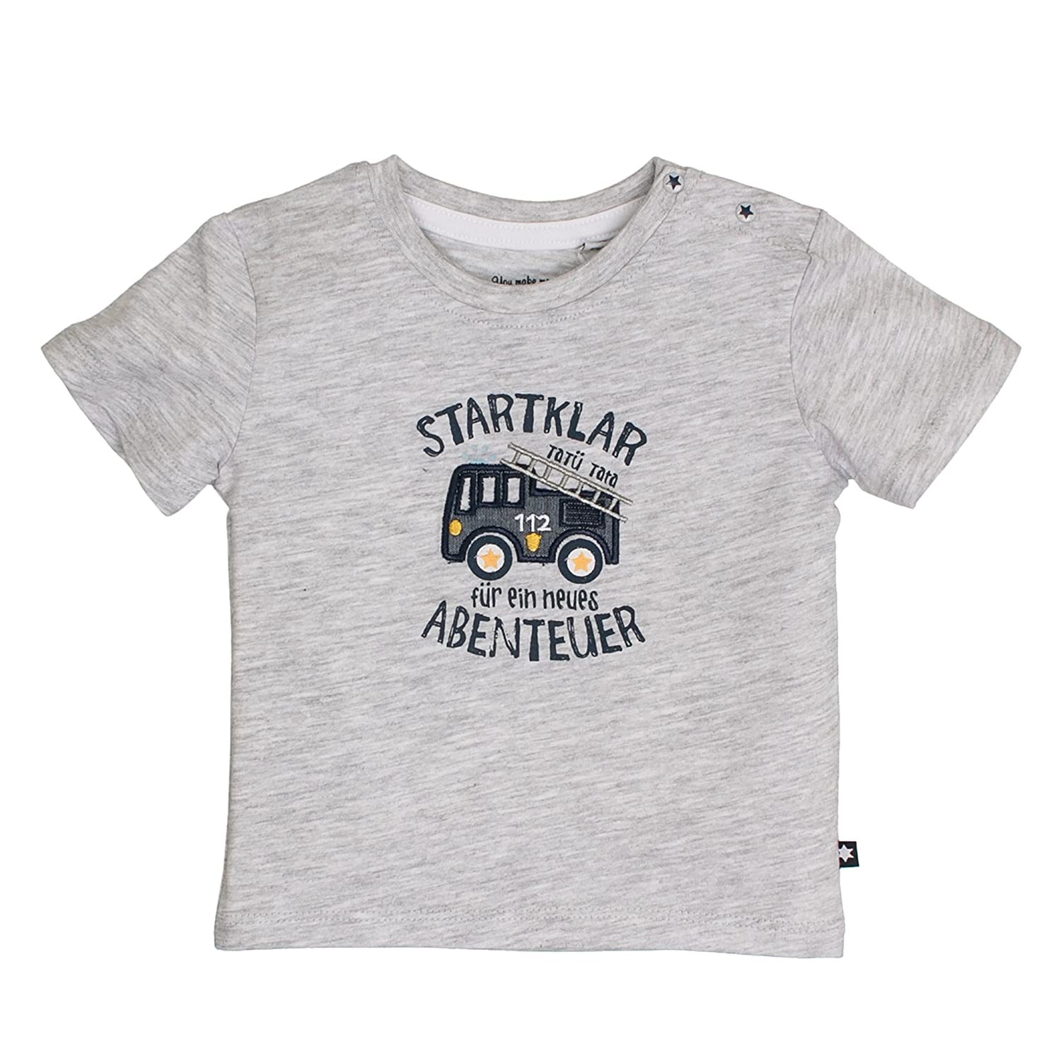 SALT AND PEPPER Baby-Jungen T-Shirt Nb Ready Uni Print 83212103