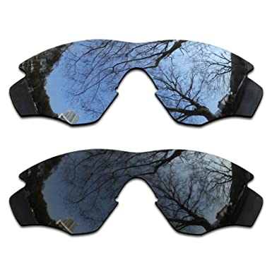 c916269d4d Image Unavailable. Image not available for. Color  2 Pair Polarized Lens  Replacement for Oakley M2 Black Silver Chrome