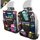 BELKA Car Backseat Organizer with 10 Inch Tablet Holder + 9 Storage Pockets Car Back Seat Protectors Kick Mats for Kids…