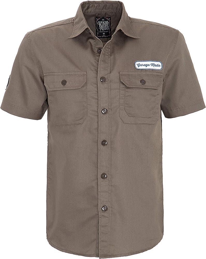 King Kerosin Speedway Kings Camisa, Gris, S para Hombre: Amazon.es: Ropa y accesorios