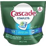 Cascade Complete Action Pacs Lemon Scent Detergente para Lavavajillas, 14 Piezas