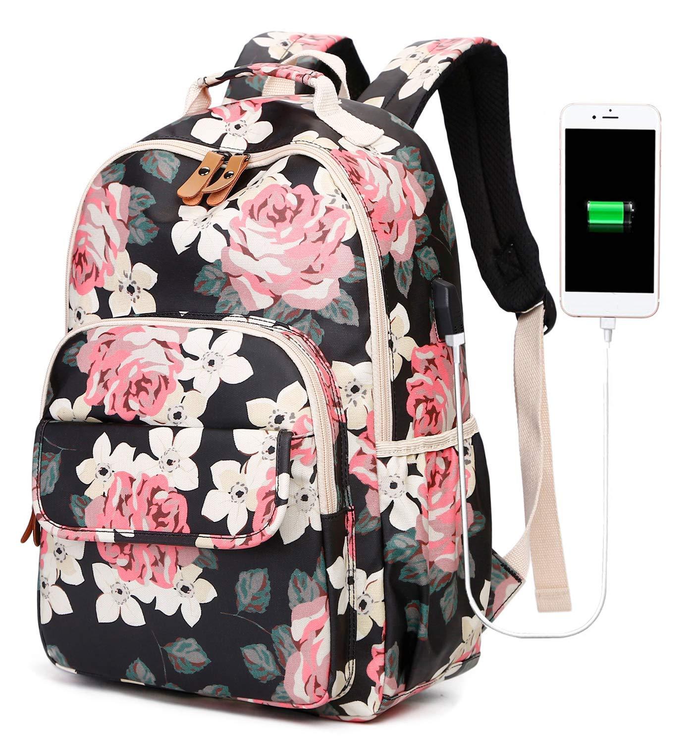 Amazon.com: Mochila escolar con puerto de carga USB para ...