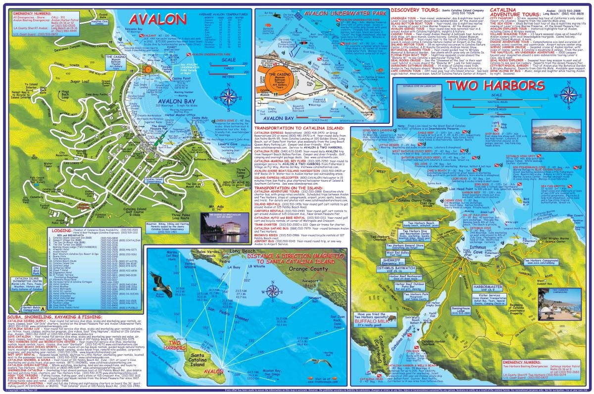 Santa catalina island california adventure dive guide franko santa catalina island california adventure dive guide franko maps waterproof map franko maps ltd 9781601909855 amazon books sciox Gallery