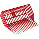 LITTLE GIANT DuraPitch II Pitch Fork Head (Red) Durable Polycarbonate Stable Fork Head with Basket Design (13 in Tines) (Item
