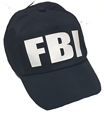 eea68f729f8 Camlab Unisex Fbi Baseball Cap - Black - One Size  Amazon.co.uk ...