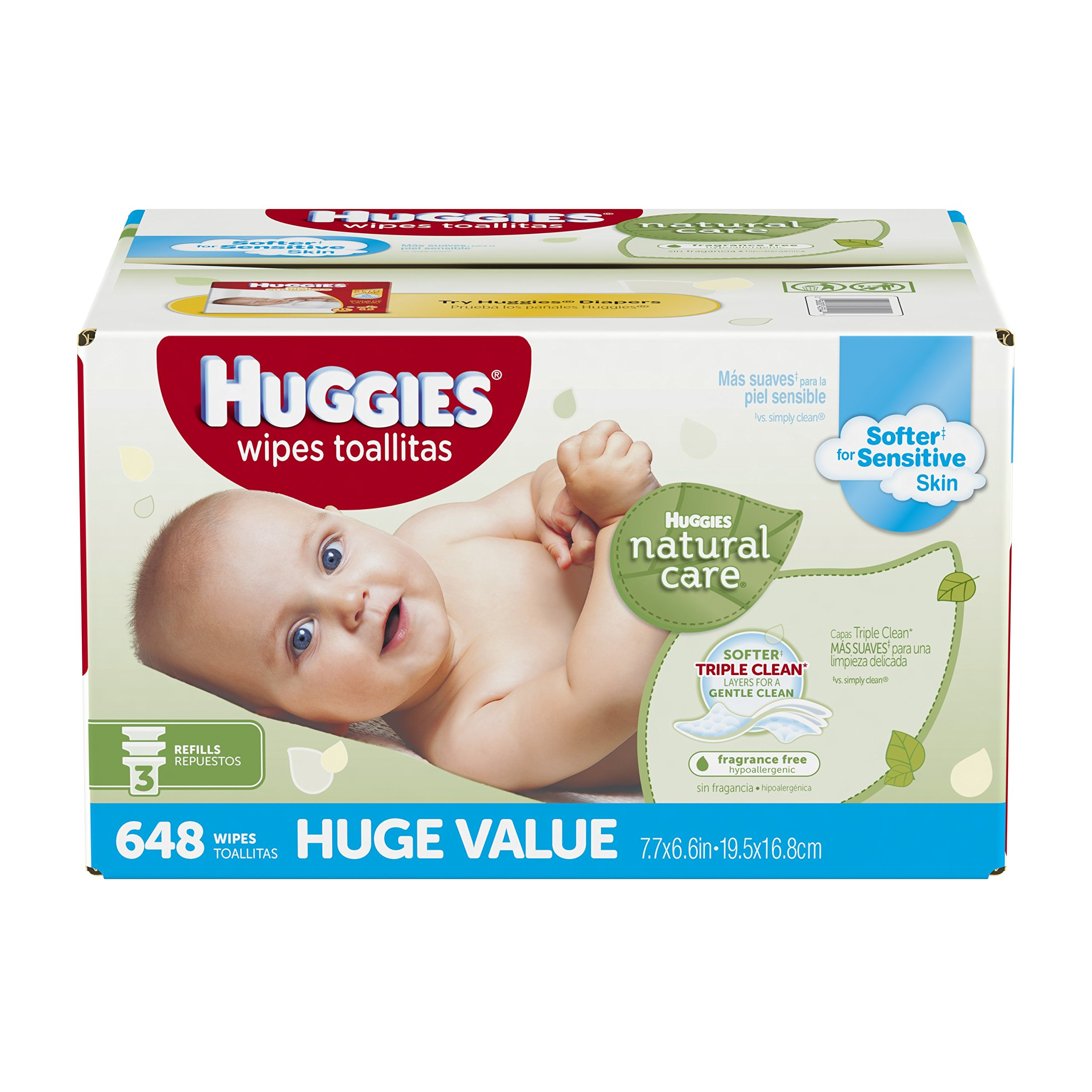 Huggies Natural Care Baby Wipes Clutch N Clean