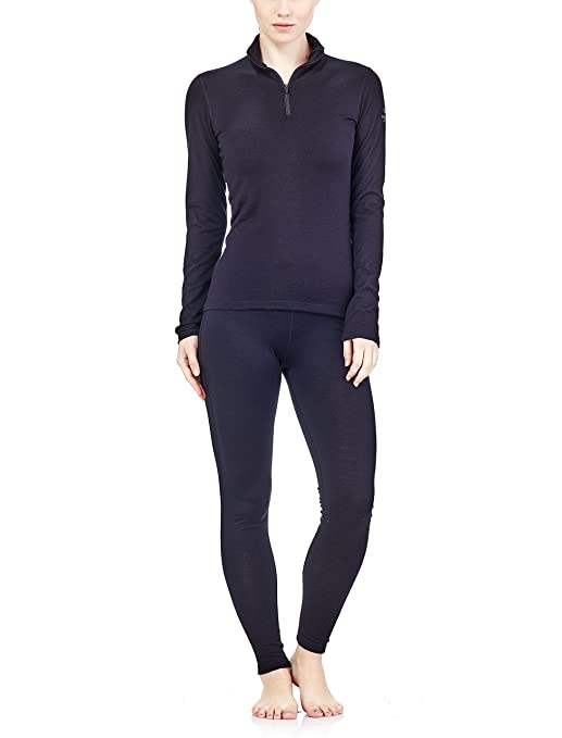 Manches 12 Oasis Vêtement Zip Icebreaker Longues Femme Sous Thermique OXuPTZik