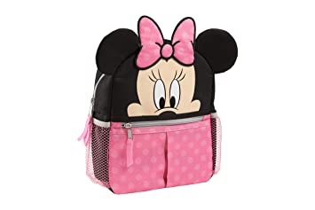 e86227fdb761 Amazon.com   Disney Minnie Mini Backpack with Safety Harness Straps for  Toddlers with 3D Ears   Baby