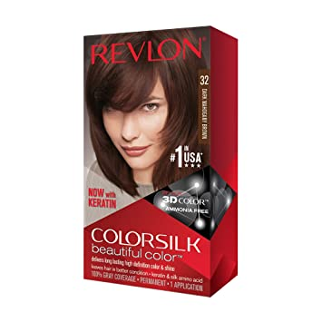 Amazon Com Revlon Colorsilk Hair Color 32 Dark Mahogany Brown 1