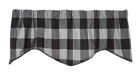 Buffalo Plaid Kitchen Curtains Valance Curtains Window Valences Kitchen  Valances for Windows Modern Farmhouse Kitchen Decor Country Rustic Decor  Grey ...