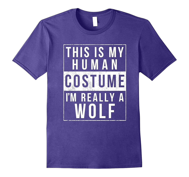 Wolf Halloween Costume Shirt Funny Easy for Kids Men Women-FL
