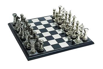 Amazoncom Benzara Sleek and Attractive Chess Set with Polish