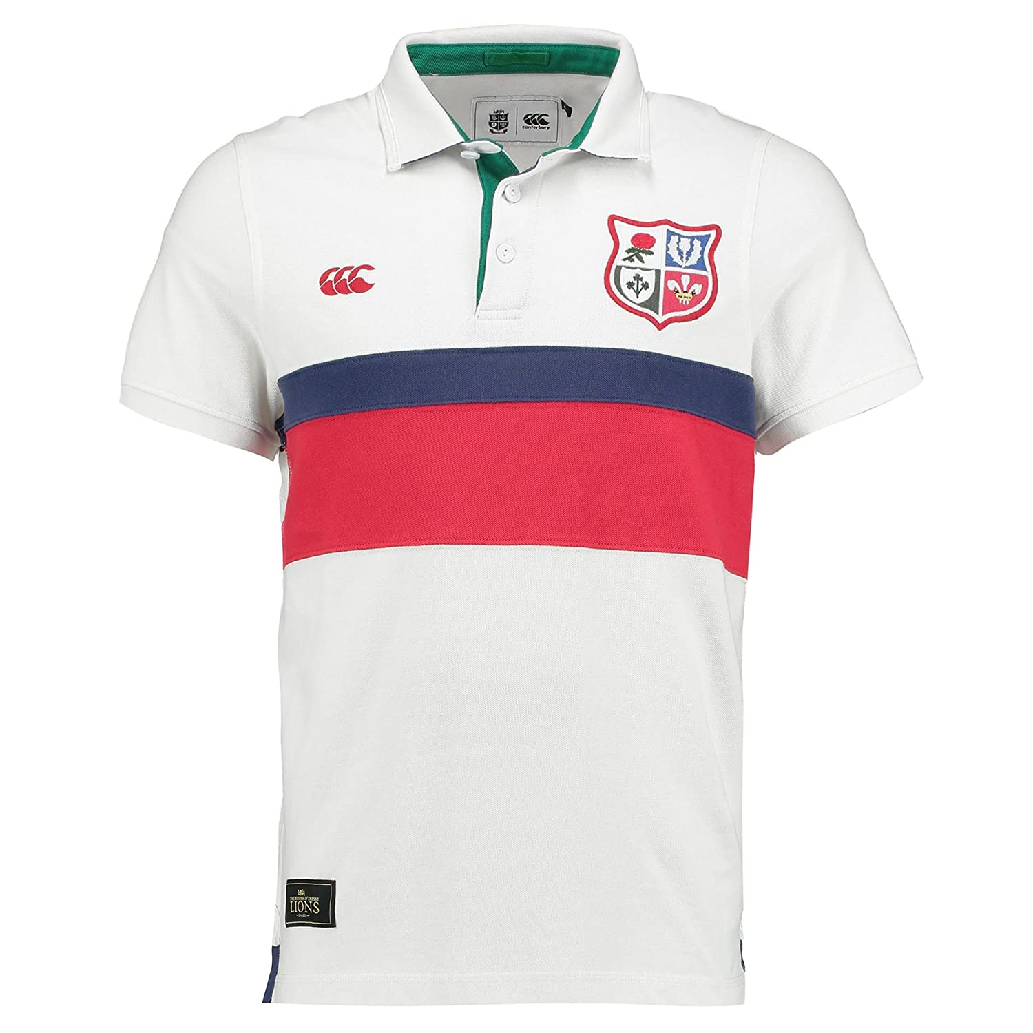 British & Irish Lions Mens Panelled Pique Rugby Polo Shirt Top ...