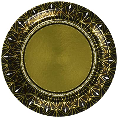 Amscan 541896 Party Supplies Glitz & Glam Metallic Round Plates, One Size, Multi Color: Toys & Games