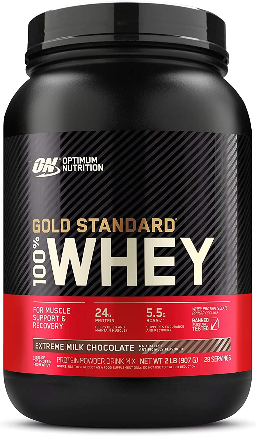 Optimum Nutrition Gold Standard 100% Whey Protein Powder, Extreme Milk Chocolate, 2 Pound (Packaging May Vary): Health & Personal Care
