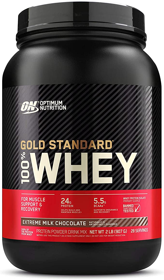 Amazon.com: Optimum Nutrition Gold Standard 100% Whey Protein Powder,  Extreme Milk Chocolate, 2 Pound (Packaging May Vary): Health & Personal Care