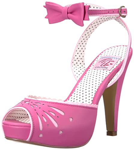 59cb8112872 Pinup Couture Women's Bettie-01 Ankle-Strap Sandal