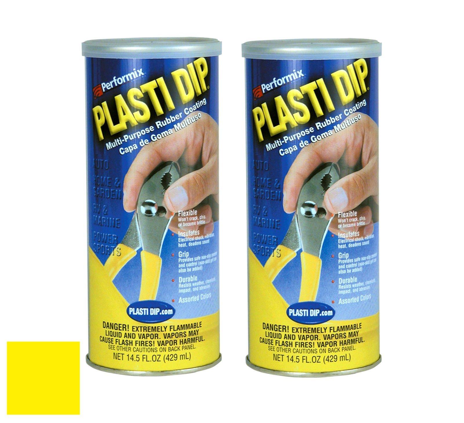 Plasti Dip (11602-6) Multi-Purpose Yellow Synthetic Rubber Coating 14.5oz (2 Pack)