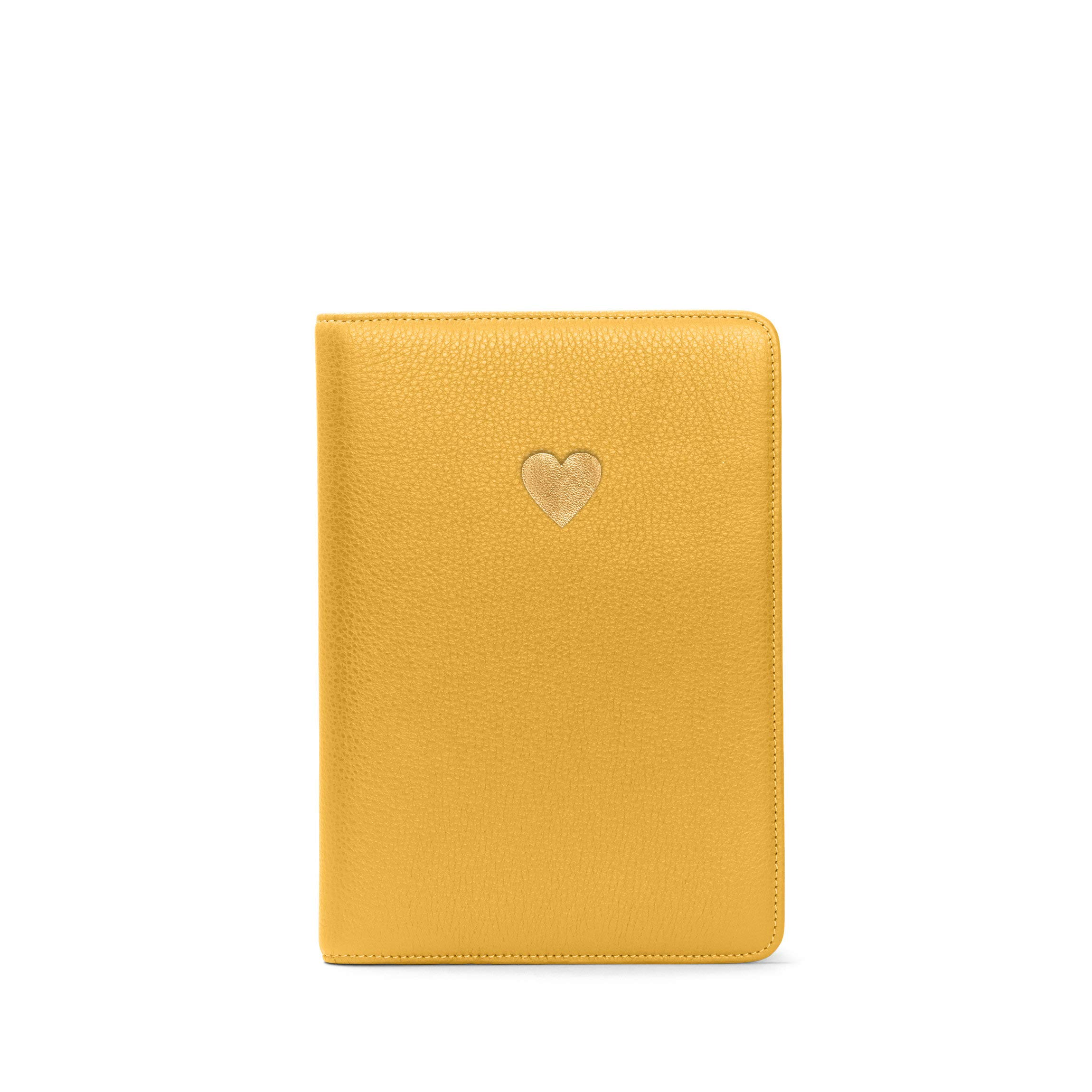 Heart Journal - Full Grain Leather Leather - Turmeric (Yellow)
