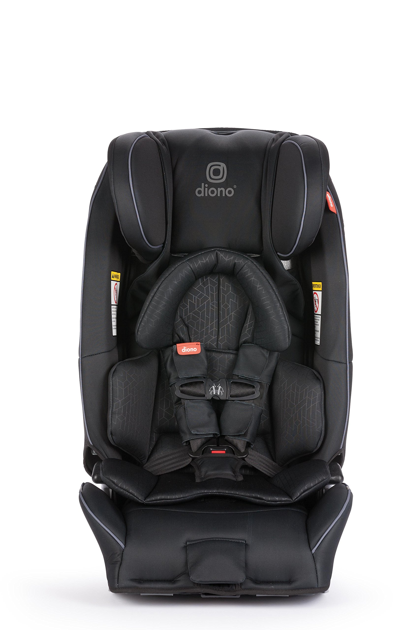 Diono Radian 3RXT All-in-One Convertible Car Seat - Extended Rear-Facing 5-45 Pounds, Forward-Facing to 65 Pounds, Booster to 120 Pounds - The Original 3 Across, Black by Diono (Image #1)