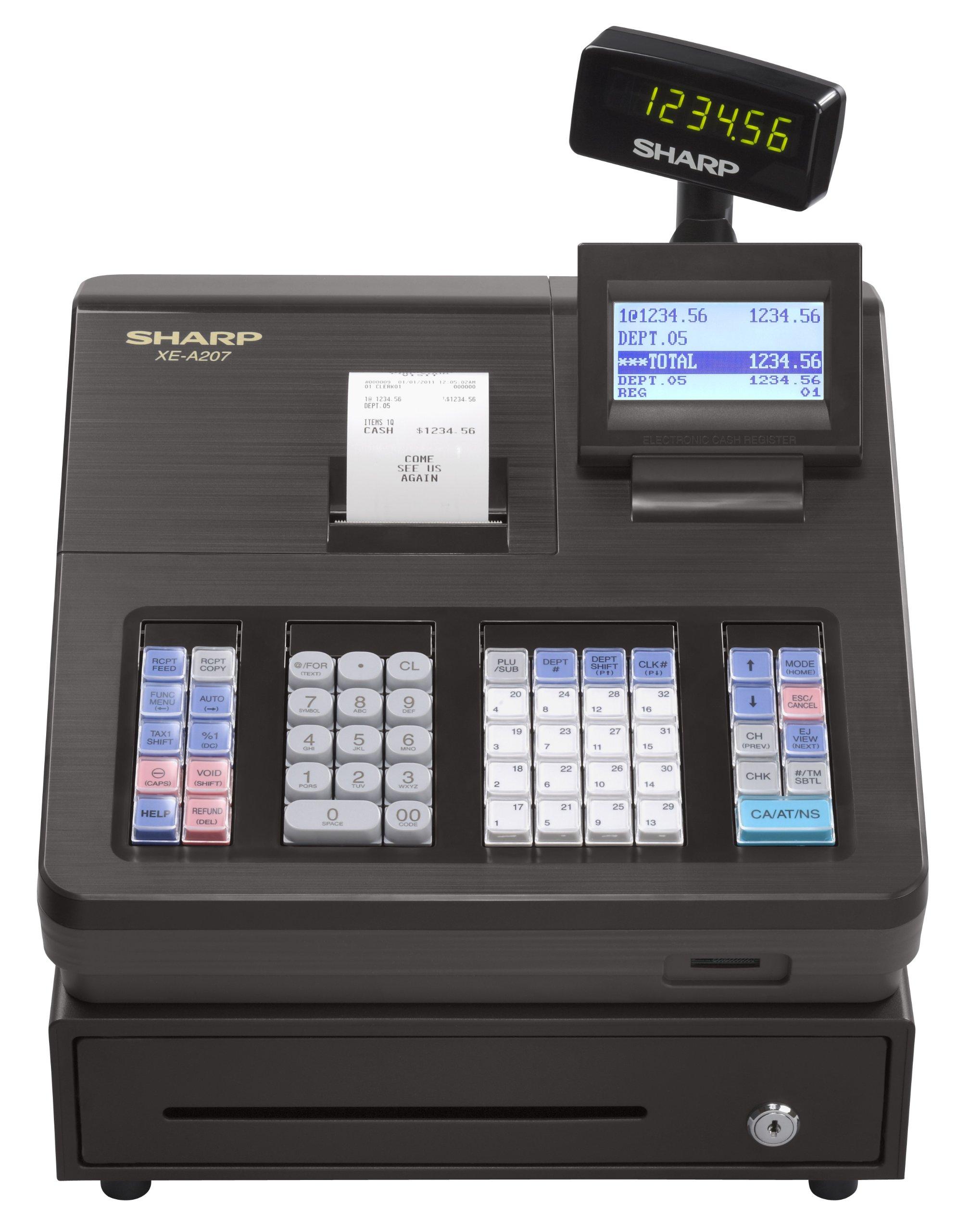 Sharp XEA207 Menu Based Control System Cash Register by Sharp