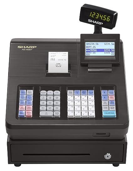 amazon com sharp xea207 menu based control system cash register rh amazon com