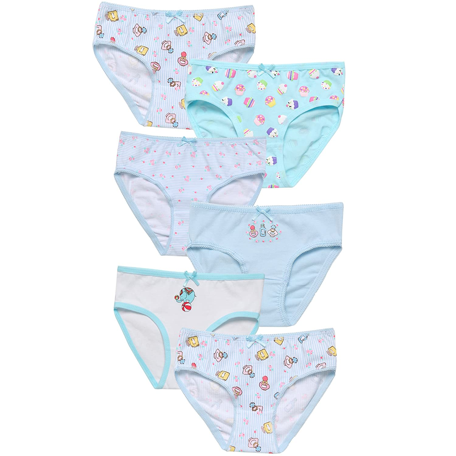 6-Pack YFIT Toddler Girls Brief,Little Kids Minnie Underwear