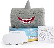 DREAMIMALS GIFTBOX & Storybook Version, SHARKIE, a Kids Stuffed Plush Toy w Dream Pocket and Dream Wishes for Better Bedtime (14 by 9 inches) Includes Sharkie, Storybook and 60 Dream Wishes